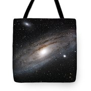 Andromeda Galaxy Lightened Tote Bag