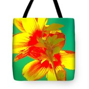 Andy Warhol Inspired Yellow Flower Tote Bag