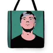 Andy Warhol Self Portrait 1964 On Green - High Quality - Stamp Edition 2012 Tote Bag