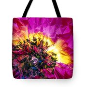 Anemone Abstracted In Fuchsia Tote Bag