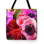 Anemones And Roses Tote Bag