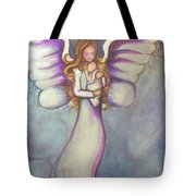 Angel And Baby Tote Bag