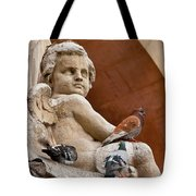 Angel And Birds  Tote Bag