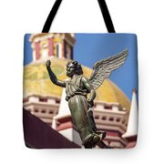 Angel And Cathedral Tote Bag