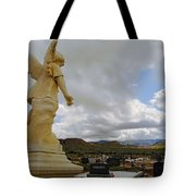 Angel And Clouds Tote Bag