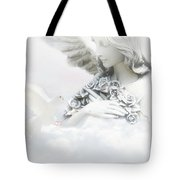 Angel And Dove Tote Bag