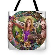 Angel And Fox Tote Bag