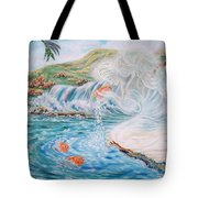 Angel And The Fishes  Flying-lamb-productions  Tote Bag