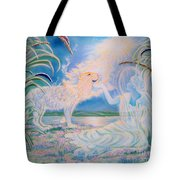 Chloe The Flying Lamb Productions.            Ask The Beasts And They Will Teach You. Tote Bag