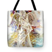 Angel At The Cross Tote Bag