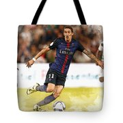 Angel Di Maria Controls The Ball Tote Bag