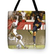 Angel Di Maria Shoot The Ball Tote Bag