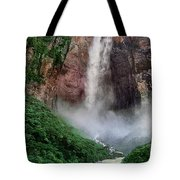 Angel Falls Canaima National Park Venezuela Tote Bag by Dave Welling