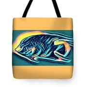 Angel Fish In Turquoise Tones Tote Bag