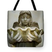 Angel Holding Shell Tote Bag