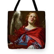 Angel Holding The Vessel And Towel For Washing The Hands Of Pontius Pilate Tote Bag