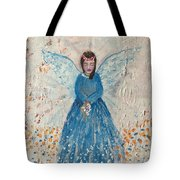 Angel In Blue Tote Bag
