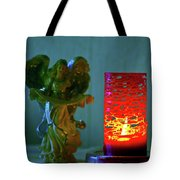 Angel In Candle Light Tote Bag