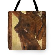 Angel In Gold Tote Bag