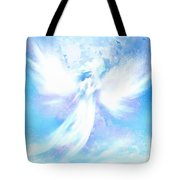 Angel In Hotty Totty In Thick Paint Tote Bag