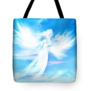 Angel In Thick Paint Tote Bag
