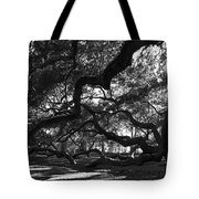 Angel Oak Limbs Bw Tote Bag