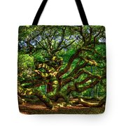 Angel Oak Morning Shadows Charleston South Carolina Tote Bag