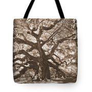 Angel Oak Sepia Tote Bag