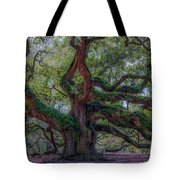 Angel Oak Tree Deeply Rooted History Tote Bag