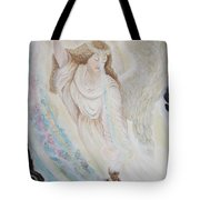 Flying Lamb Productions.   Angel Of Mercy -2 Tote Bag