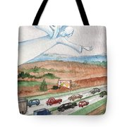 Angel Of Safety Tote Bag