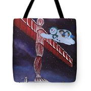 Angel Of The North, Snowman Tote Bag