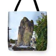 Angel On Graveyard Tote Bag