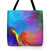 Angel On Lilly Pond Tote Bag