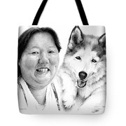 Angel On My Shoulder Tote Bag