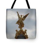 Angel On The Queen Victoria Memorial Tote Bag