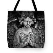 Angel Praying Tote Bag