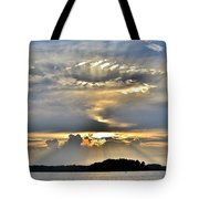 Angel Ray Sunset Tote Bag