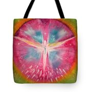 Angel Shining On Your Path Tote Bag