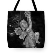 Angel Statue Hanging On Tote Bag