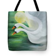 Angel Swans Tote Bag