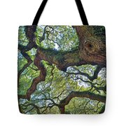 Angel Tree Abstract Tote Bag