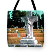 Angel Watching Over Tote Bag
