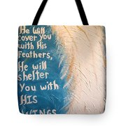 Angel Wing Psalms 91 4 Tote Bag