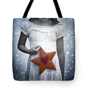 Angel With A Star Tote Bag