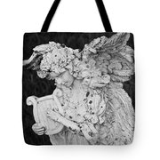 Angel With Harp Tote Bag