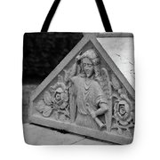 Angel With Horn Carving Tote Bag