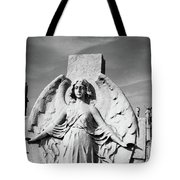 Angel With Outspread Wings And Other Angels In The Background Tote Bag