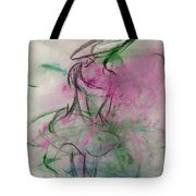 Angel With Pink Wings Tote Bag