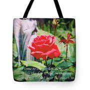 Angel With Roses 2 Tote Bag